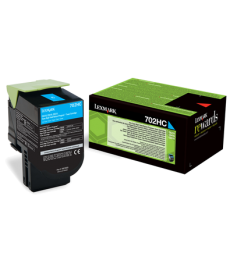 Lexmark 702HC Cyan Toner 3000pag.CS310dn,CS310n,CS410dn,CS410dtn,CS410n,CS510de,CS510dte