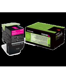 Lexmark 702HM Magenta Toner 3000 pag.- CS310dn,CS310n,CS410dn,CS410dtn,CS410n,CS510de,CS510dte