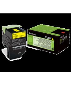 Lexmark 702HY Yellow Toner 3000 pag.-CS310dn,CS310n,CS410dn,CS410dtn,CS410n,CS510de,CS510dte.