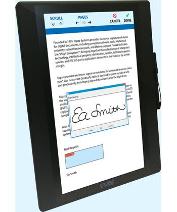 Topaz GemView 16 eSign Tablet Display  - TD-LBK156VA-USB-R. SUA