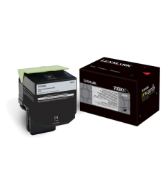 Lexmark 700X1 Black Extra High Yield Toner Cartridge 8000 pag (70C0X10)