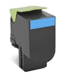 Toner Cyan  1000 pag.Lexmark. CX410,CX310,CX510.(80C20C0)