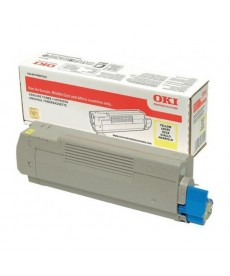 TONER OKI MC563dn-C532,MC573,MC563-Yellow-6K